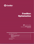 FreeStor: Optimization
