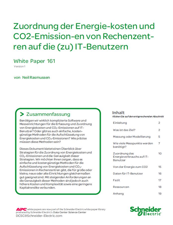 Zuordnung der Energiekosten und CO2-Emissionen von Rechenzentren auf die IT-Benutzer