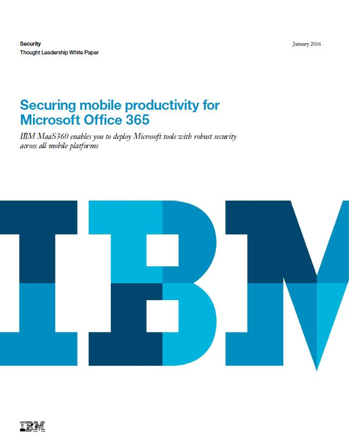 Securing mobile productivity for Microsoft Office 365