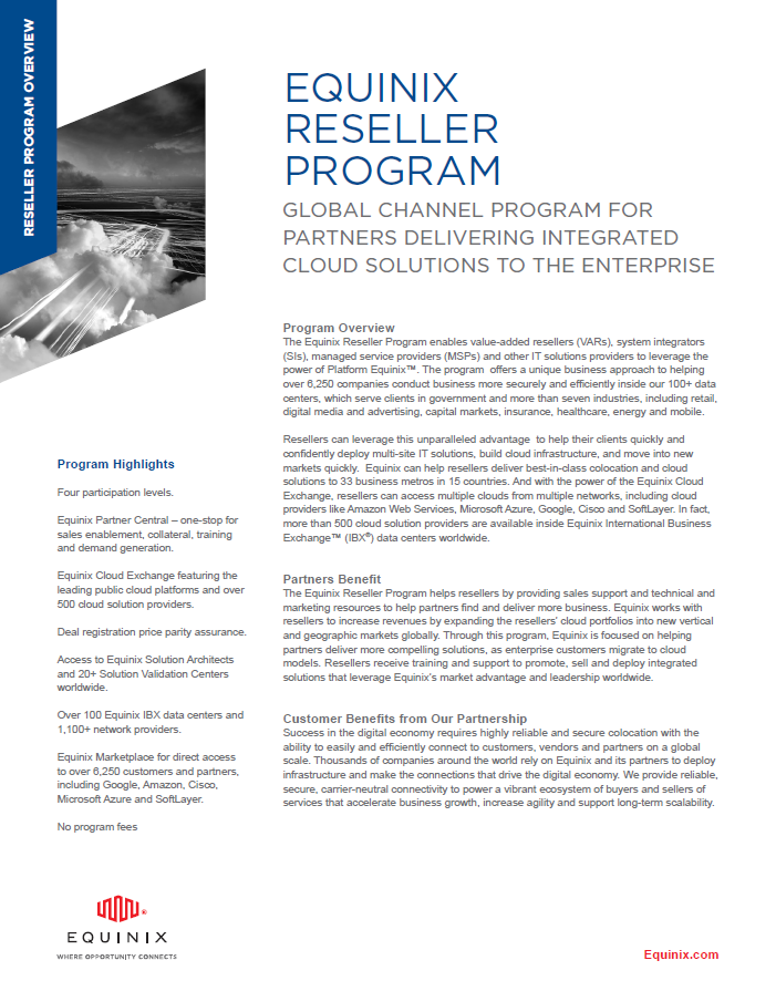 Equinix Reseller Program