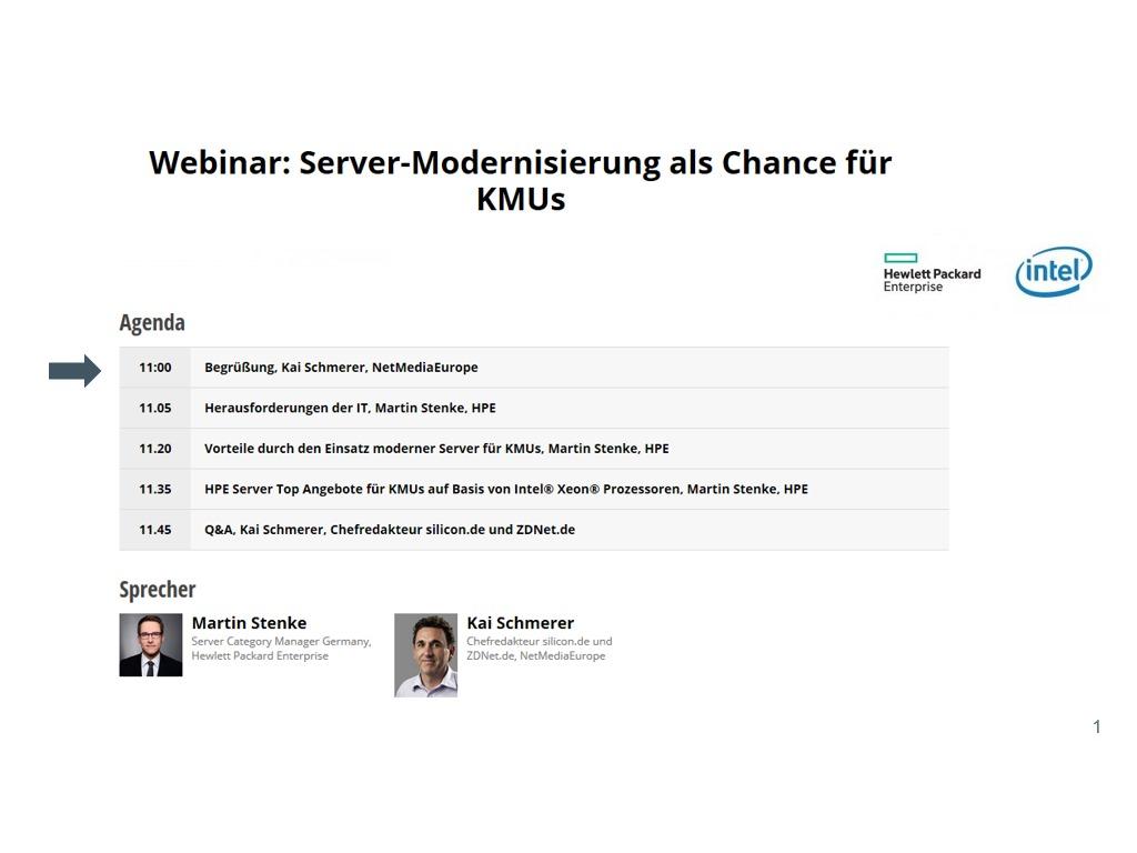 Webinaraufzeichnung: Server-Modernisierung als Chance für KMUs