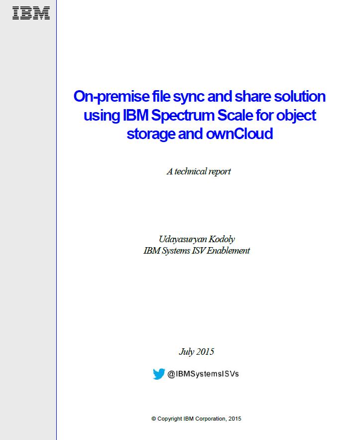 Datei-Synchronisierung und Datei-Sharing mit IBM Spectrum Scale und ownCloud On-Premise ermöglichen