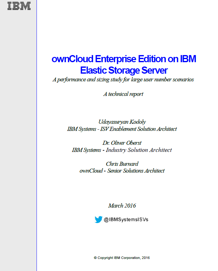 Betrieb der ownCloud Enterprise Edition auf IBM Elastic Storage Server