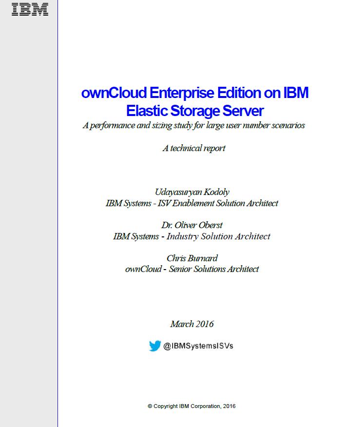 Betrieb der ownCloud Enterprise Edition auf IBM Elastic Storage Server
