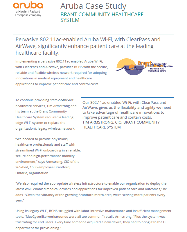 Case Study: Brant Community Healthcare System