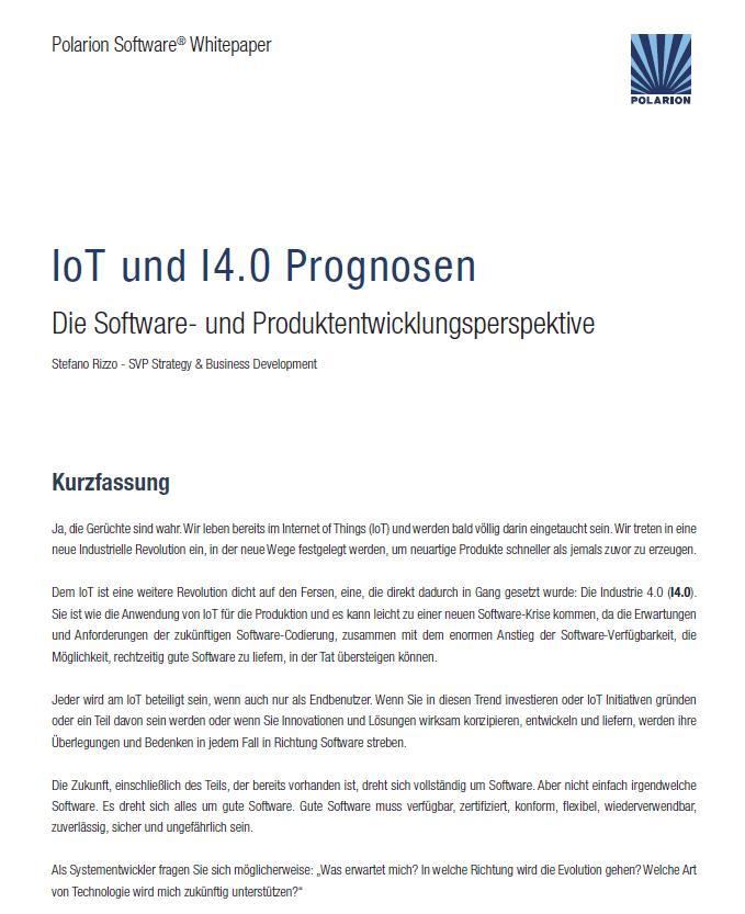 IoT und Industrie 4.0 Prognosen