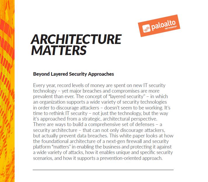 Die Vorteile einer IT-Security-Architektur