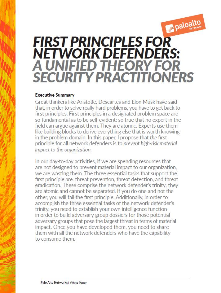 Die wesentlichen Grundsätze der Netzwerkverteidigung