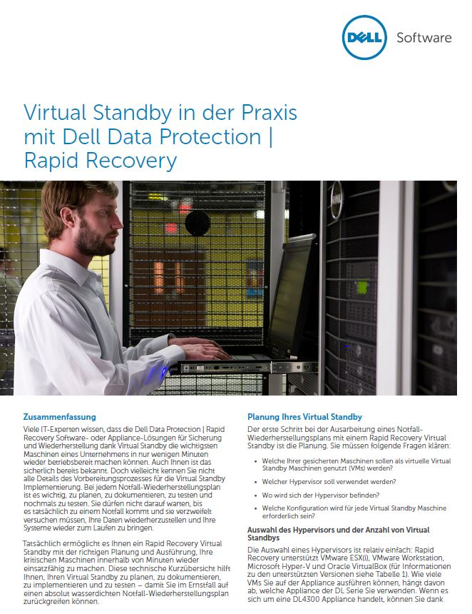 So funktioniert Virtual Standby in der Praxis