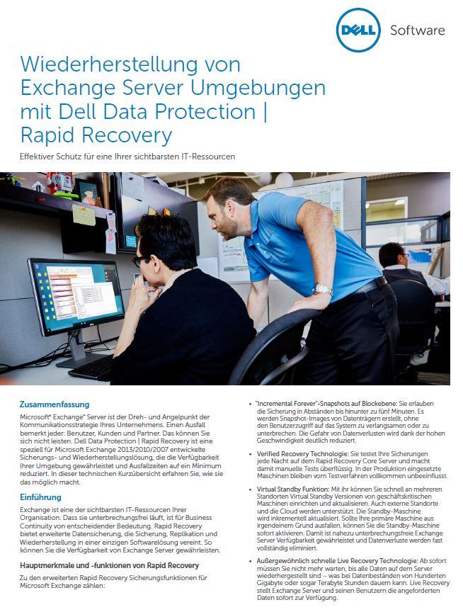 Wiederherstellung von Exchange-Server-Umgebungen
