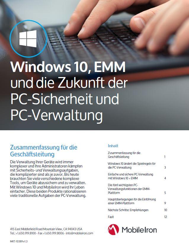 Windows 10 ändert die Spielregeln für die PC- Verwaltung
