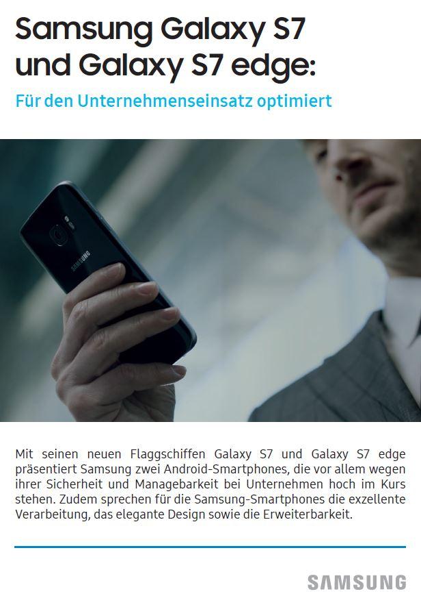 Samsung Galaxy S7 und Galaxy S7 edge: Funktionen für den Einsatz in Unternehmen