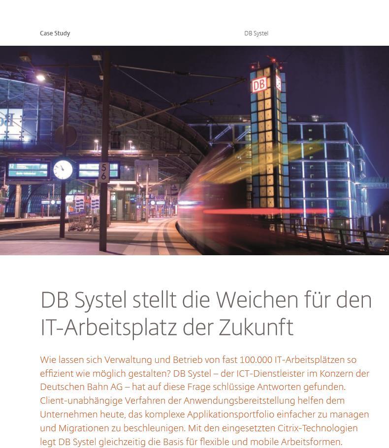 DB Systel stellt die Weichen für den IT-Arbeitsplatz der Zukunft