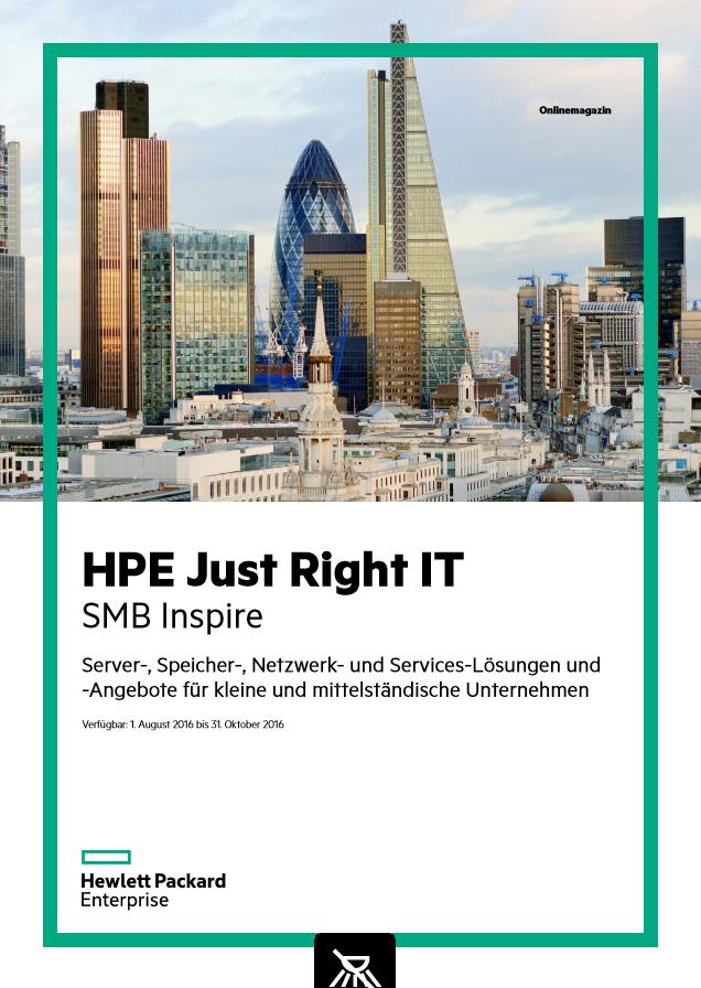 HPE Just Right IT – SMB Inspire – Angebote für KMUs