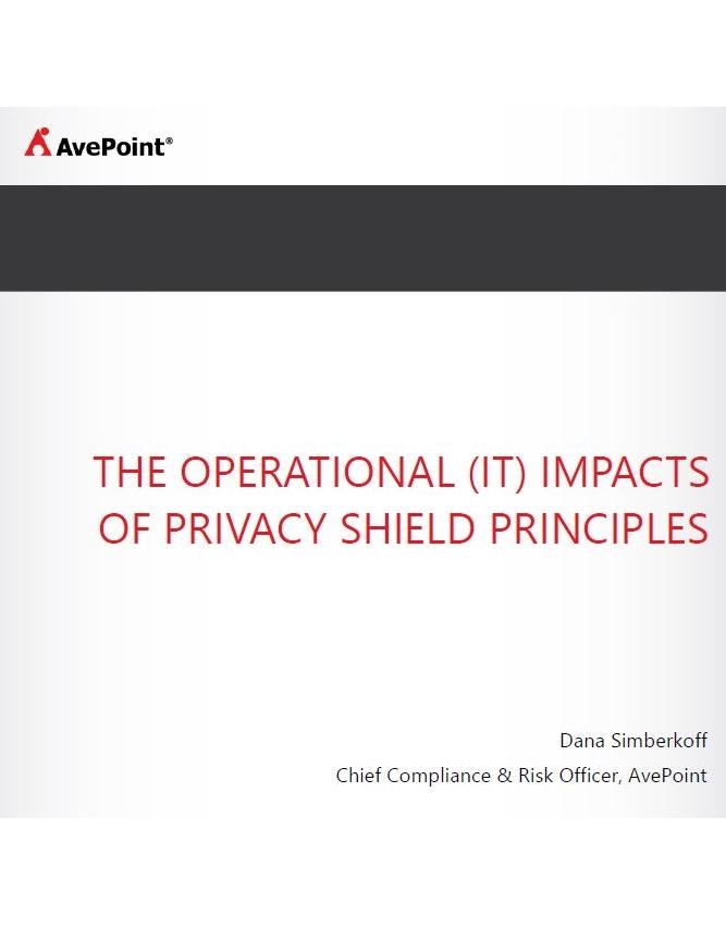 Auswirkungen der Privacy-Shield-Regeln auf den IT-Betrieb