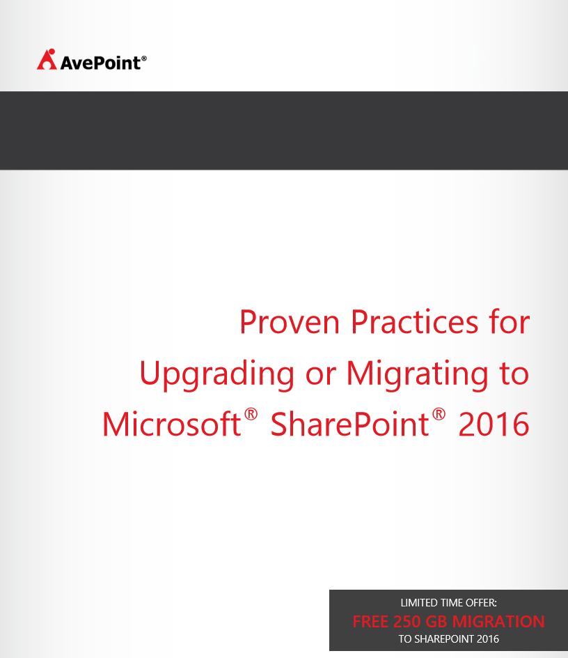 Erprobte Verfahren für Upgrade oder Migration auf Microsoft SharePoint 2016
