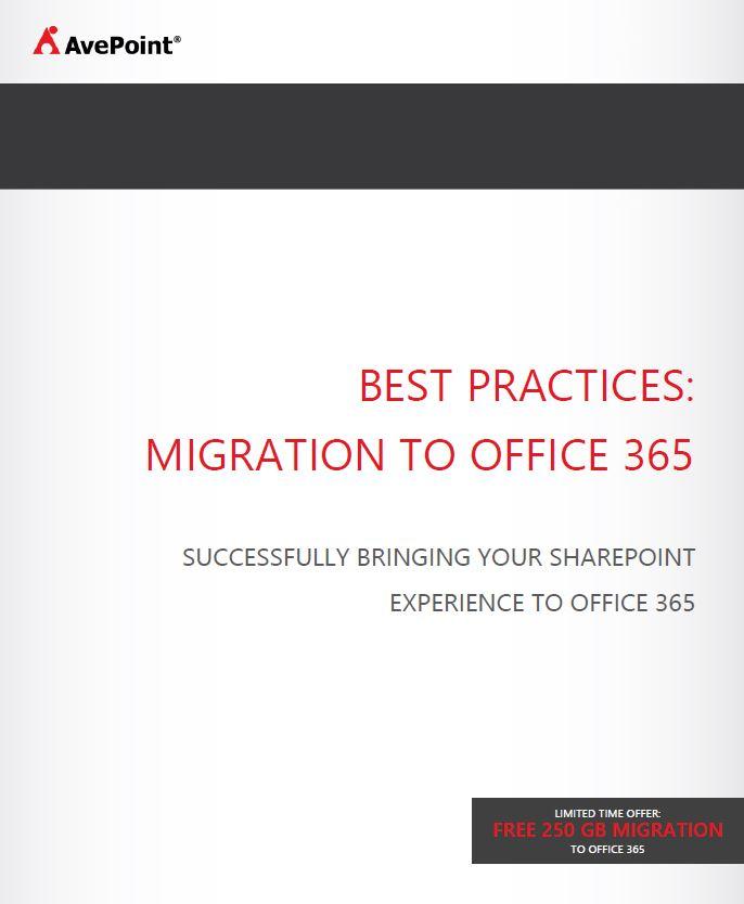 Best Practices für die Migration auf Office 365
