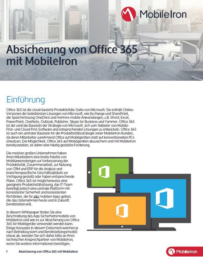Office 365 auch mit Mobilgeräten sicher nutzen