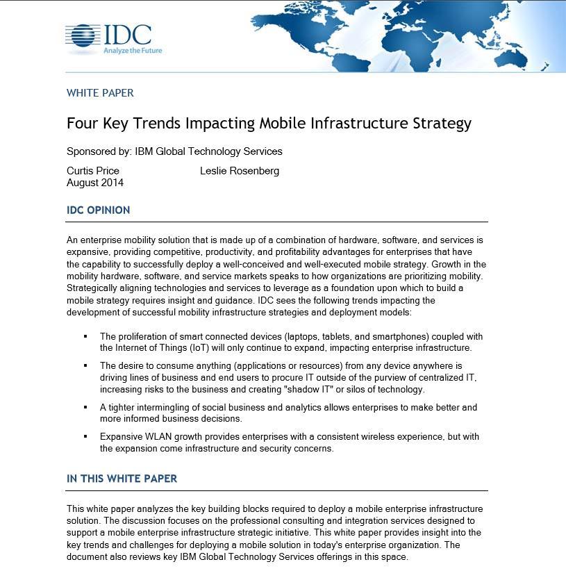 Der richtige Weg zu einer Strategie für eine Mobile Infrastruktur