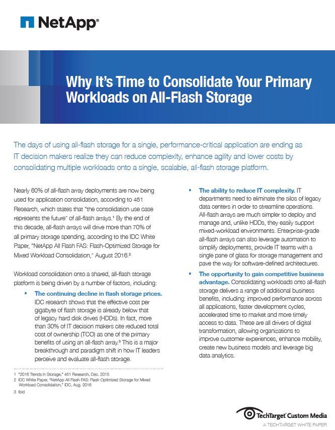 Vorteile von All-Flash-Storage für alle Workloads in Unternehmen