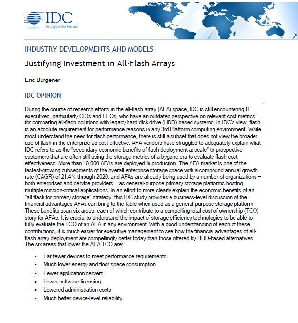 Wann lohnen sich Investitionen in All-Flash-Arrays?