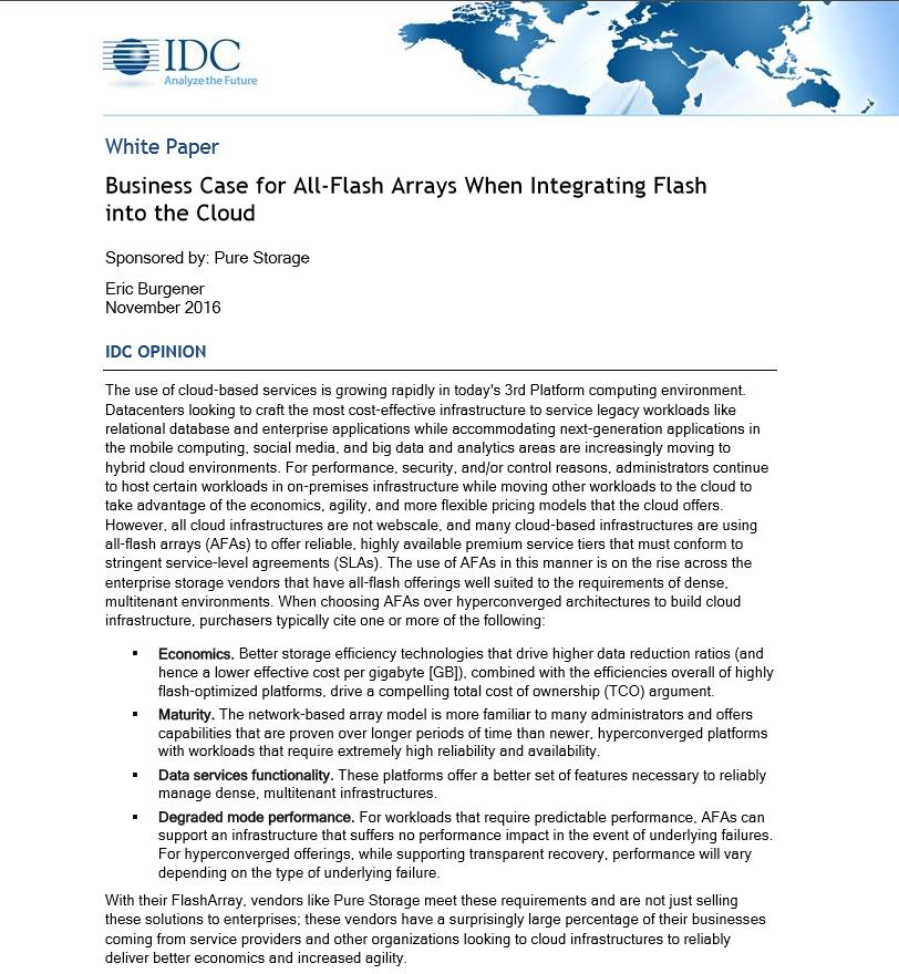 Business Case für All-Flash-Arrays in Hybrid-Cloud-Umgebungen