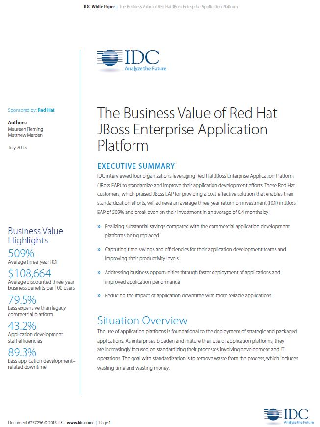 Was bringt Firmen die Red Hat JBoss Enterprise Application Platform?