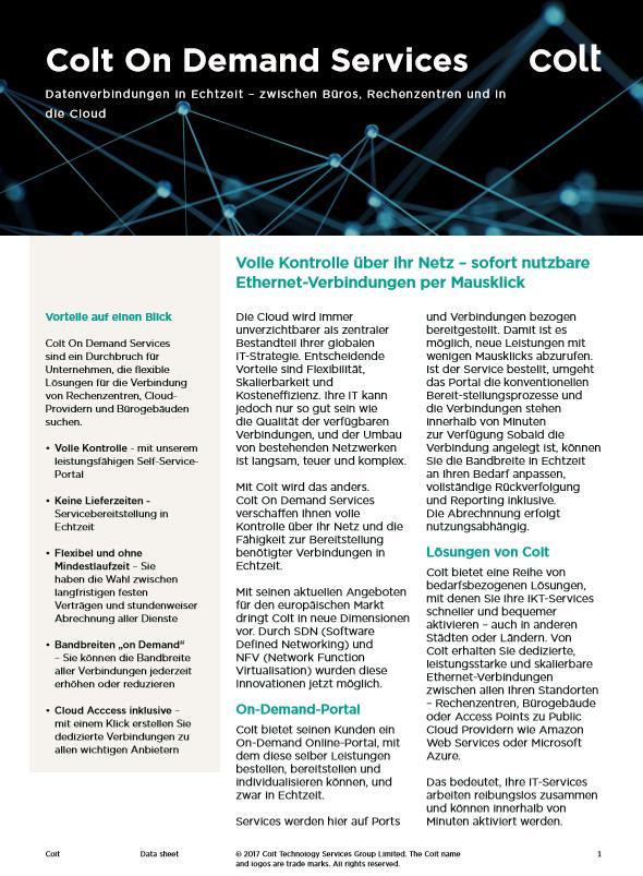 Datenverbindungen in Echtzeit – zwischen Büros, Rechenzentren und in die Cloud