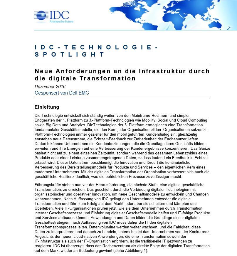 Neue Anforderungen an die Infrastruktur durch die digitale Transformation