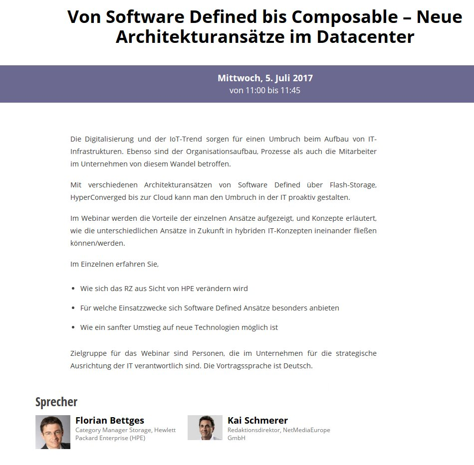 Webinar: Von Software Defined bis Composable – Neue Architekturansätze im Datacenter