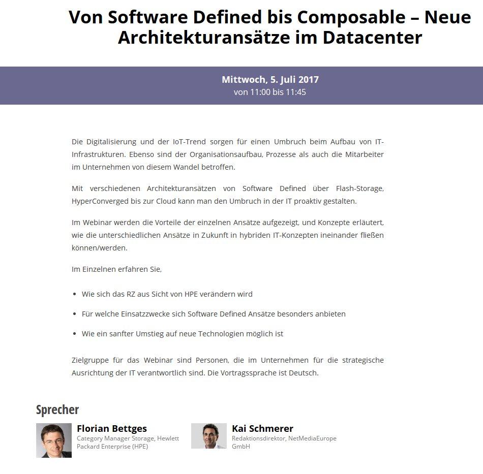 Webinar: Von Software Defined bis Composable – Neue Architekturansätze im Datacenter
