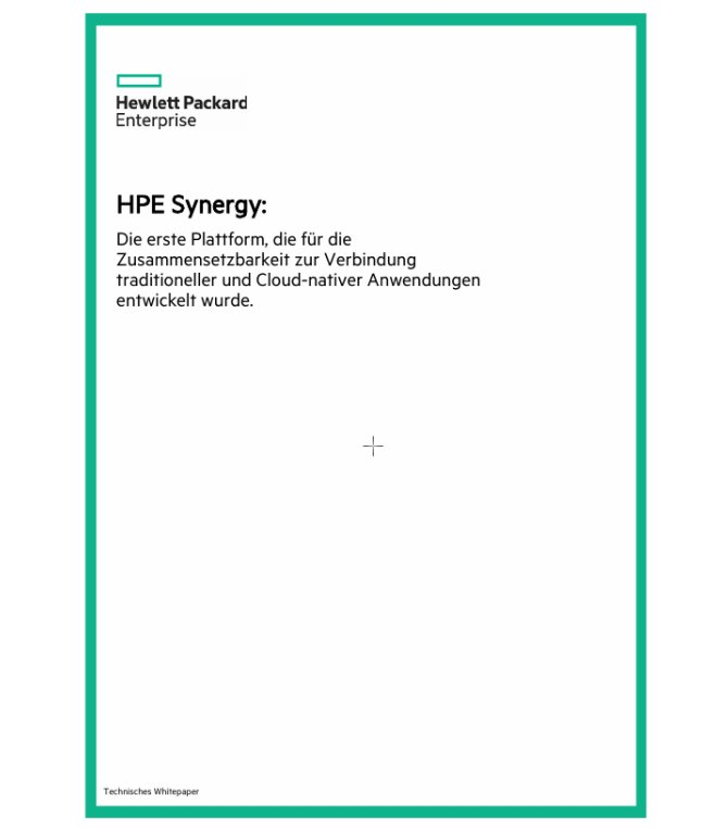 HPE Synergy: technisches Whitepaper