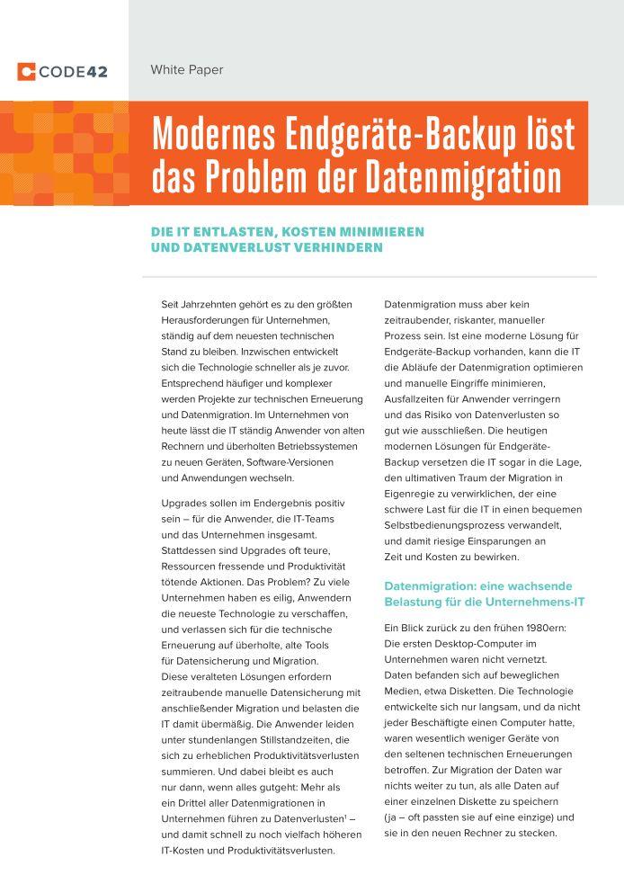 Wie modernes Endgeräte-Backup das Problem der Datenmigration löst