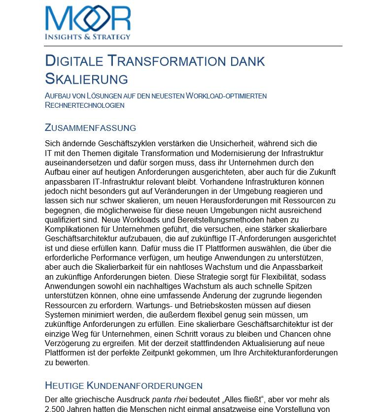 Digitale Transformation dank Skalierung