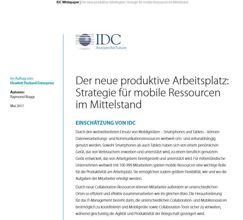 Der neue produktive Arbeitsplatz: Strategie für mobile Ressourcen im Mittelstand
