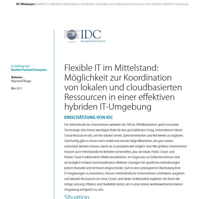 Flexible IT im Mittelstand: Möglichkeit zur Koordination von lokalen und cloudbasierten Ressourcen in einer effektiven hybriden IT-Umgebung