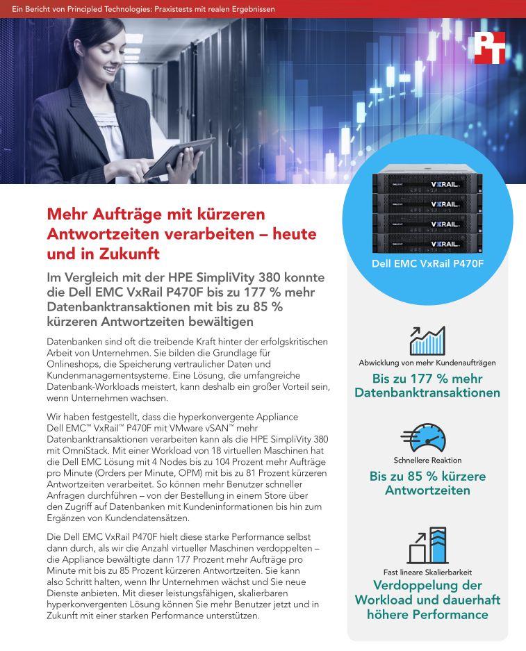 Hyperkonvergente Systeme: Dell EMC VxRail P470F und HPE SimpliVity 380 im Vergleich