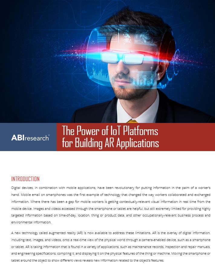 IoT-Plattformen als Grundlage und Turbo für AR-Anwendungen in der Industrie