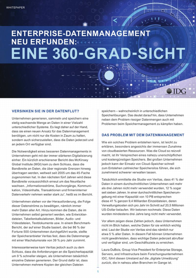 Enterprise-Datenmanagement neu erfunden