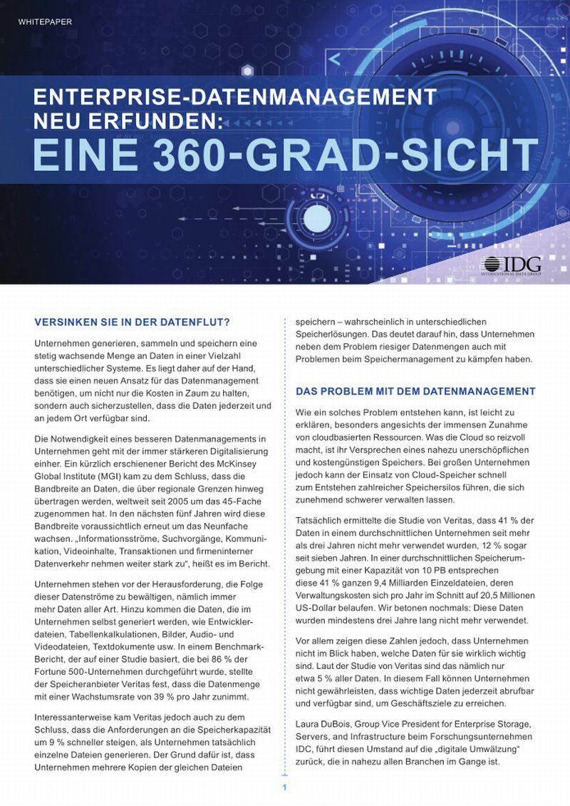 Enterprise-Datenmanagement neu erfunden