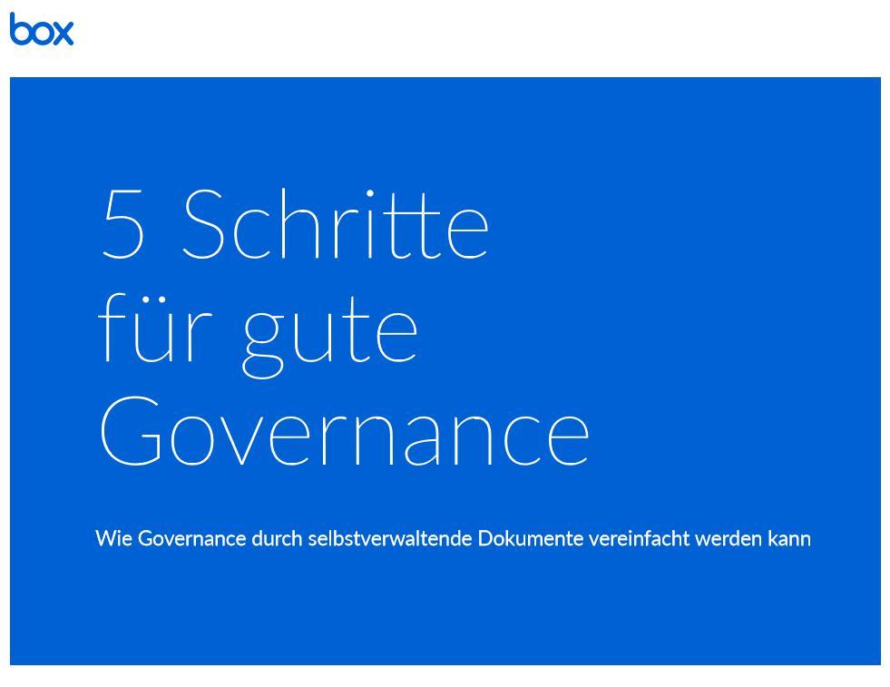 5 Schritte für gute Governance