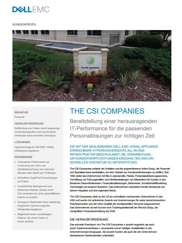 Dell EMC im Praxiseinsatz: The CSI Companies