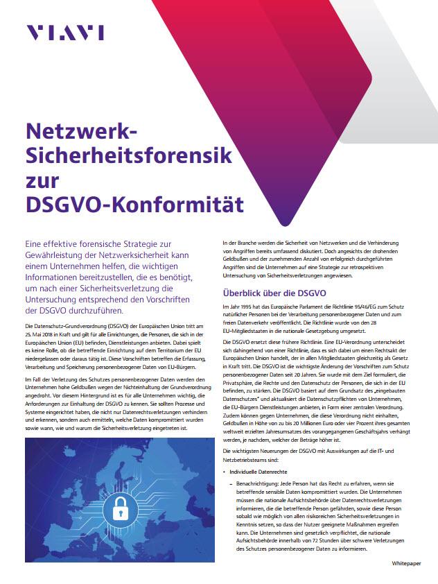 Netzwerk-Sicherheitsforensik zur DSGVO-Konformität
