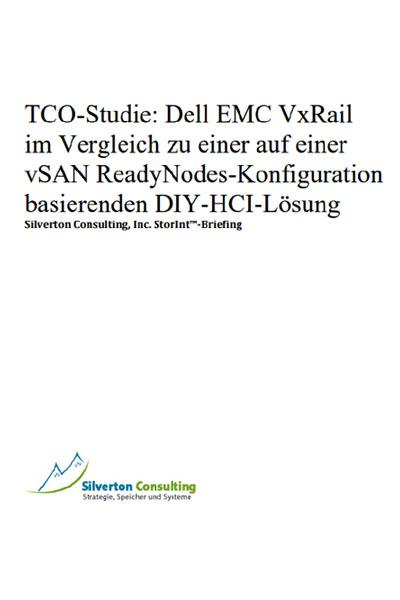 TCO-Studie: Dell EMC VxRail im Vergleich zu einer auf einer vSAN ReadyNodes-Konfiguration basierenden DIY-HCI-Lösung