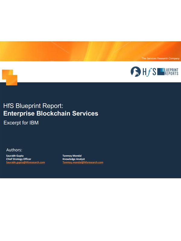 HfS Blueprint Report: Blockchain Services im Unternehmenseinsatz