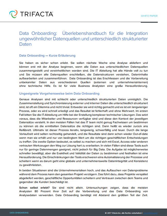 Data Onboarding: Überlebenshandbuch für die Integration unterschiedlichster Datenquellen