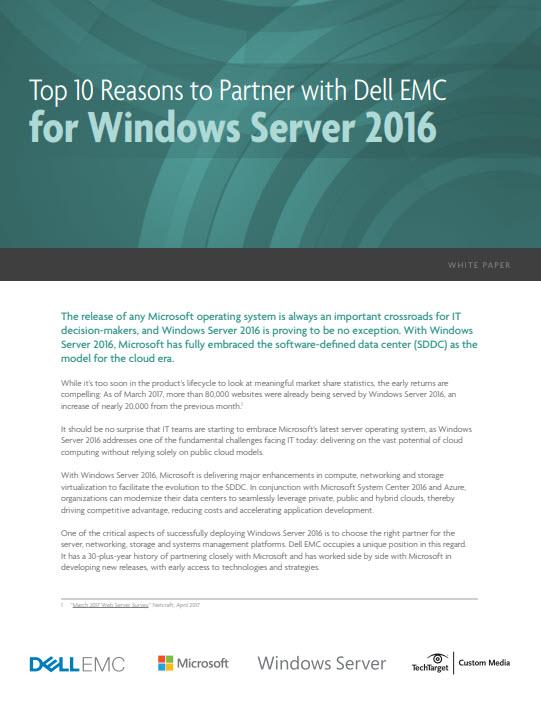 Windows Server 2016: 10 Gründe für eine Partnerschaft mit Dell EMC