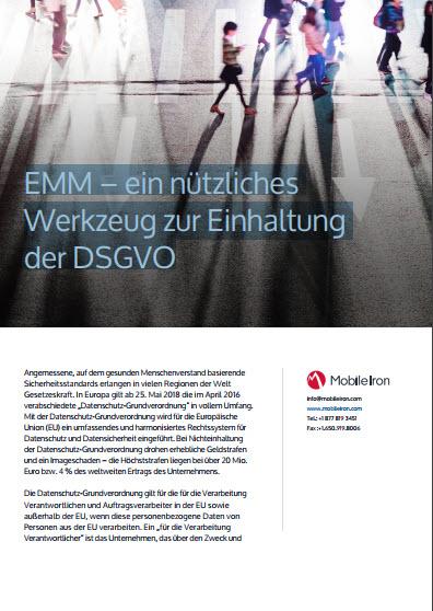 EMM – ein nützliches Werkzeug zur Einhaltung der DSGVO