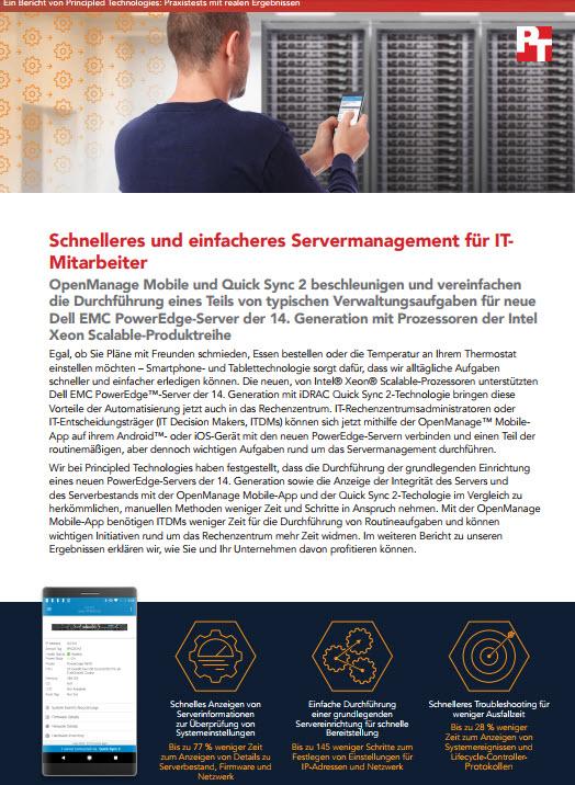 Schnelleres und einfacheres Servermanagement für IT-Mitarbeiter