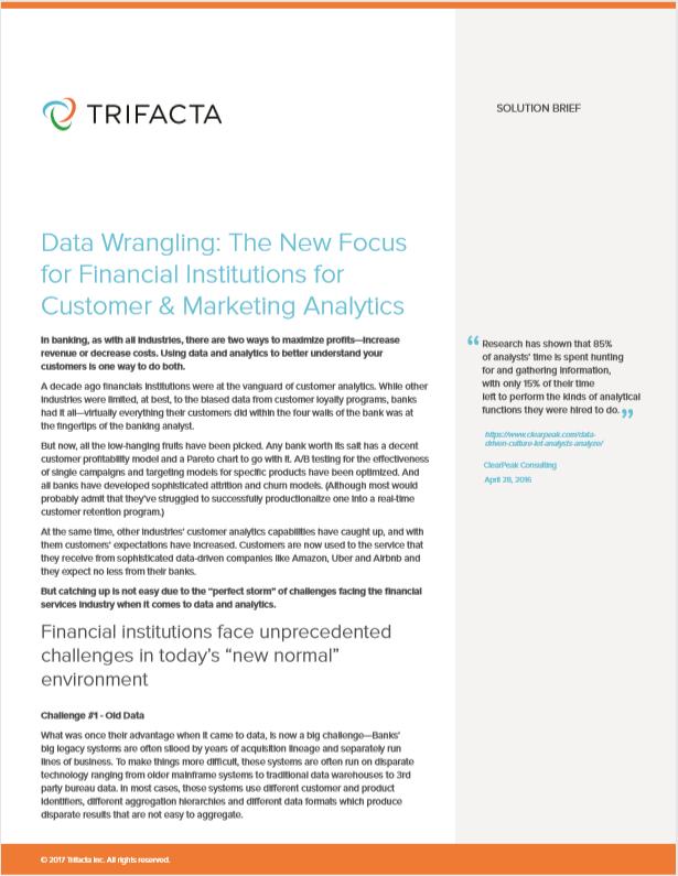 Data Wrangling: Der neue Fokus für Finanzinstitute für Kunden- und Marketinganalysen